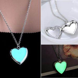 Jewelry - Magic Glow In Dark Heart Locket Pendant Necklace